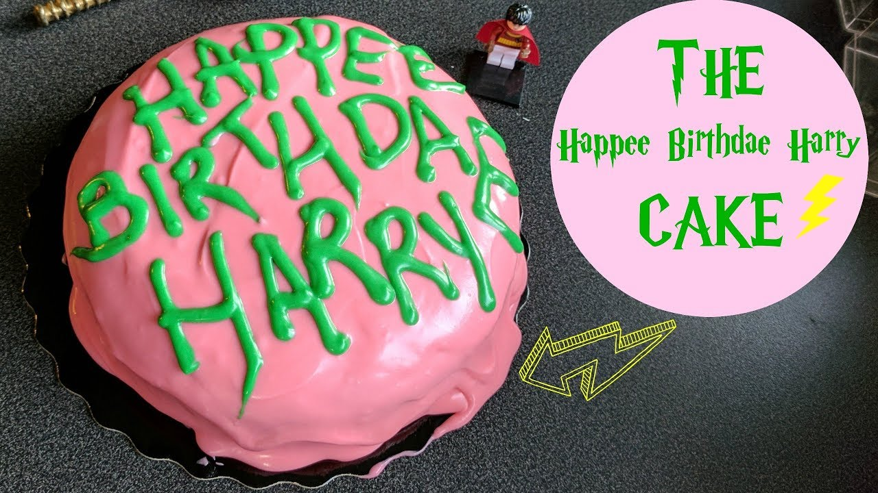 Recreating The Happee Birthdae Harry Cake Made Famous By Rubeus