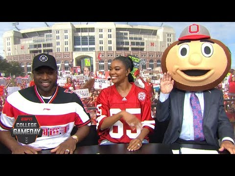Lee Corso's headgear pick for Ohio State vs. Nebraska with D-Wade, Gabrielle Union | College GameDay