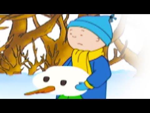 Caillou en français - Caillou détruit le bonhomme de neige | conte pour enfant | dessin anime