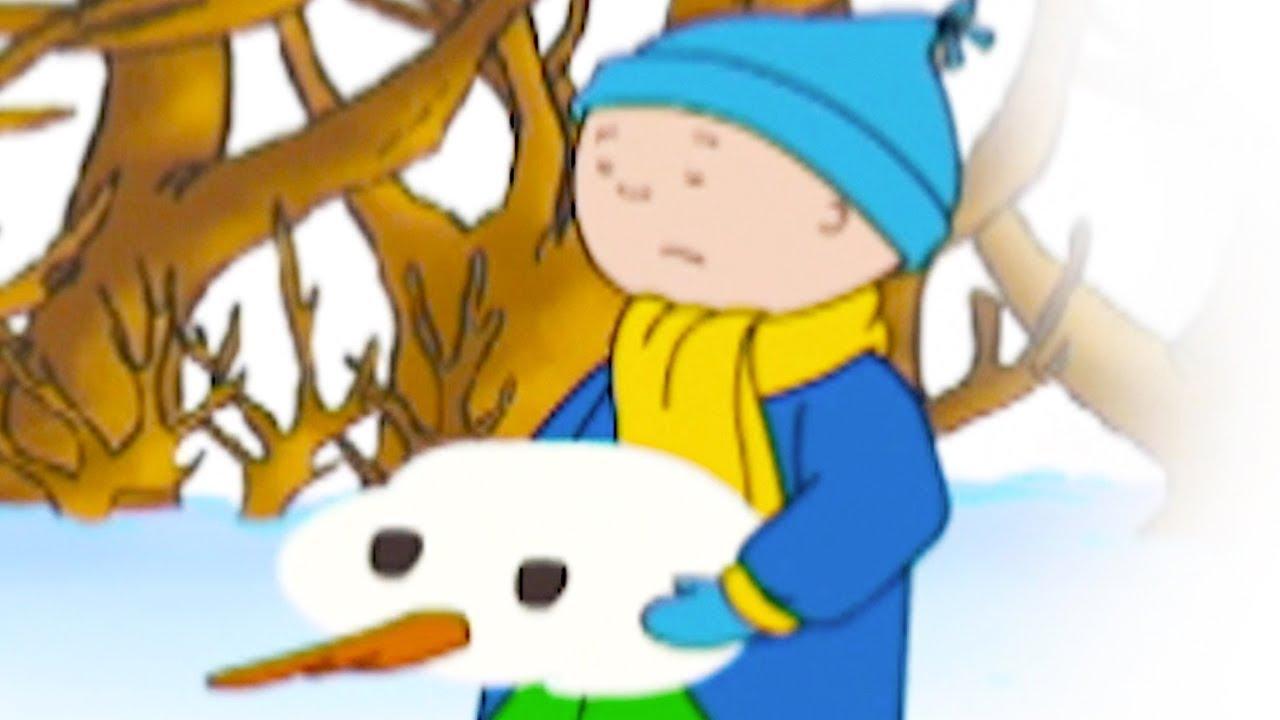 caillou en fran ais caillou d truit le bonhomme de neige conte pour enfant dessin anime. Black Bedroom Furniture Sets. Home Design Ideas