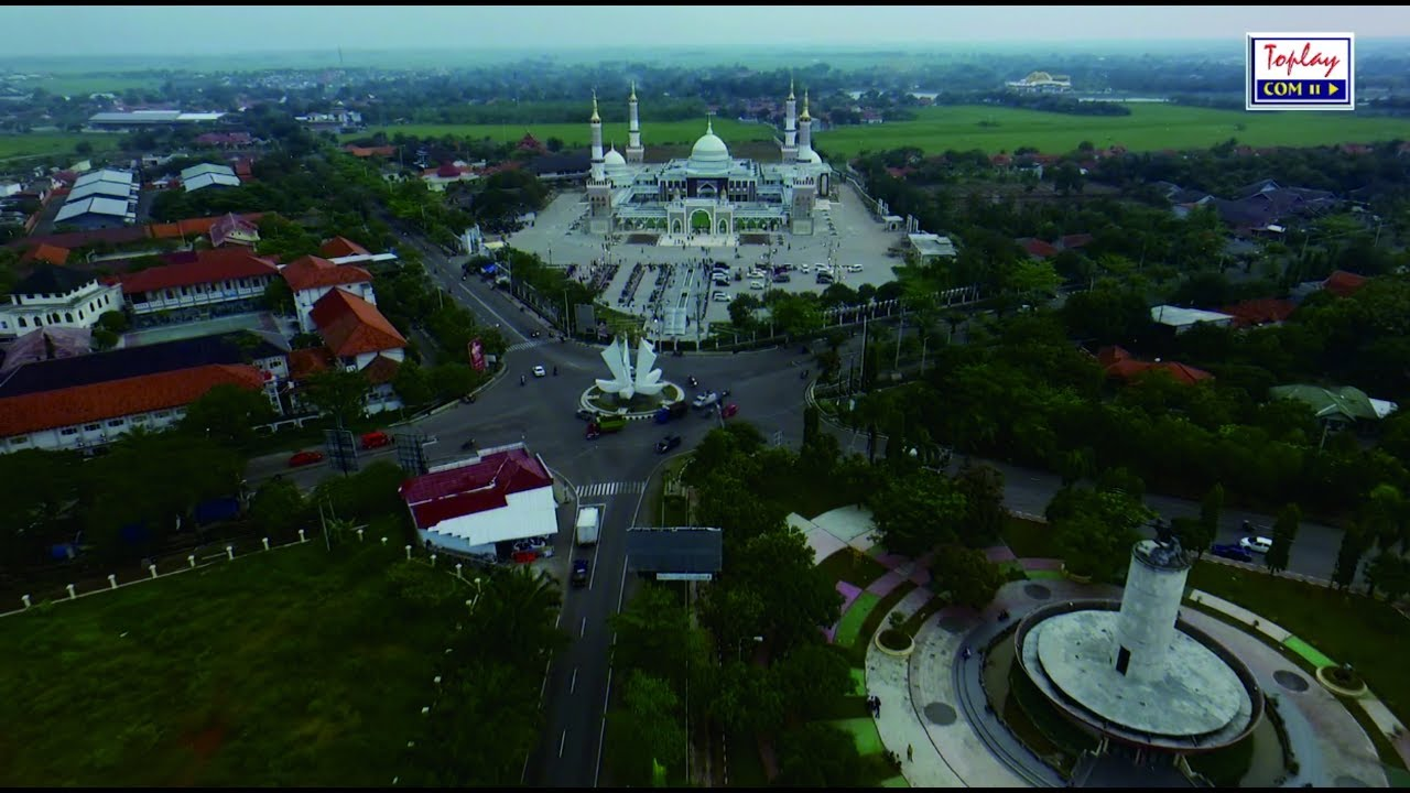 Islamic Center Indramayu Aerial View By Toplay Com Youtube