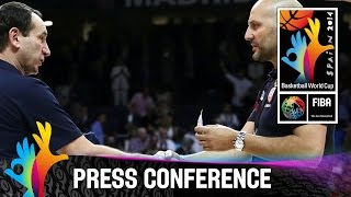 USA v Serbia - Final Post Game Press Conference - 2014 FIBA Basketball World Cup