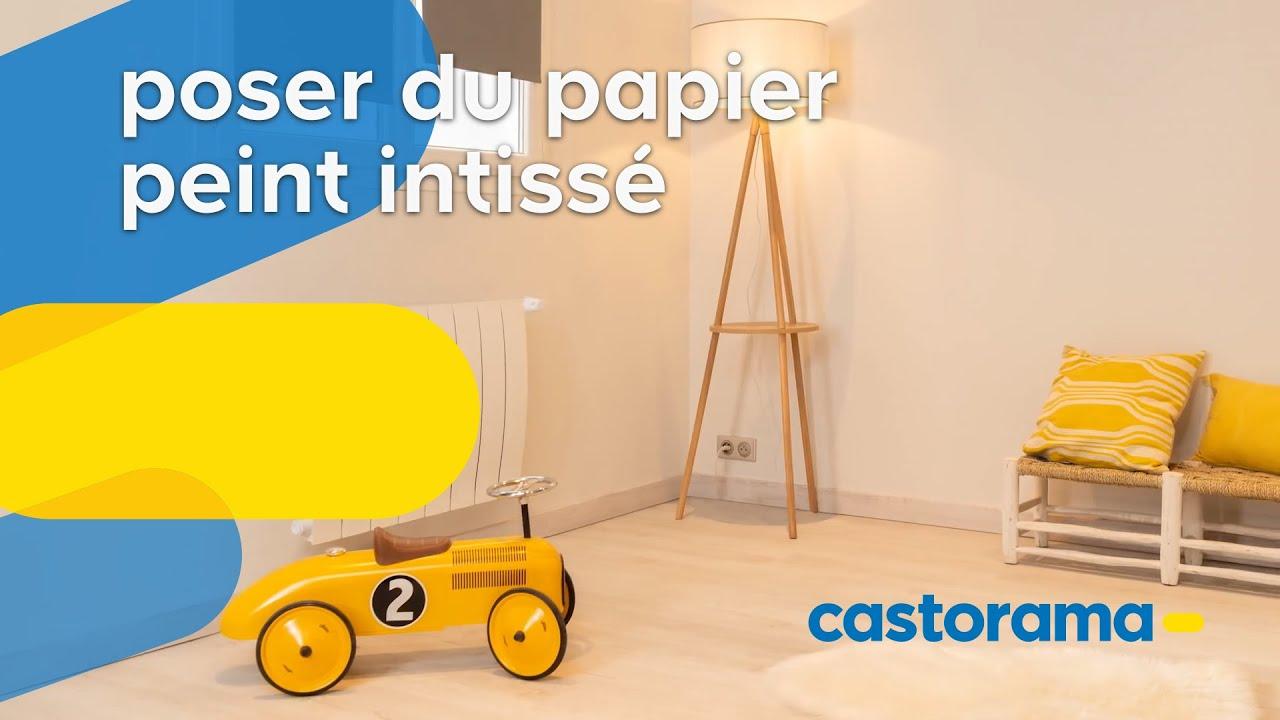 comment poser du papier peint intiss castorama youtube. Black Bedroom Furniture Sets. Home Design Ideas