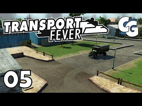 Transport Fever - Ep. 5 - Truck Station to Bus Stop Trick - Transport Fever Gameplay