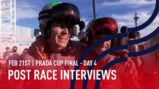 PRADA Cup Final Day 4 Post Race Interviews