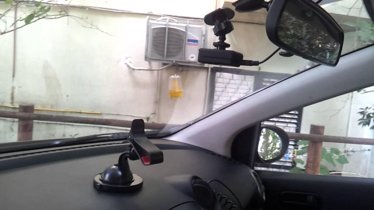 Mobius car camera post installation