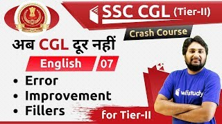 9:00 PM - SSC CGL 2018 (Tier-II) | English by Harsh Sir | Error/Improvement/Fillers