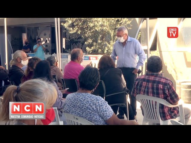 CINCO TV - Julio Zamora convocó a los vecinos a reforzar los cuidados ante la ola de Covid-19