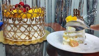 Fresh mango cake sirf 4-5 cheezo se