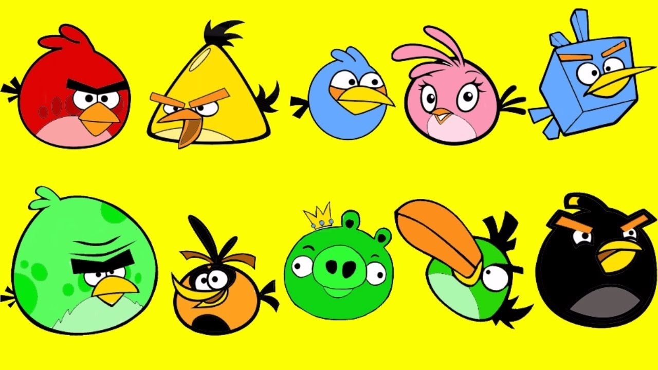 Angry Birds Coloring Pages For Kids | Angry Birds Coloring Books ...
