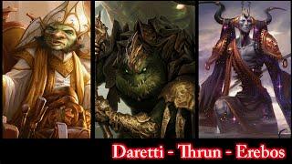 Daretti vs Thrun vs Erebos EDH / CMDR game play for Magic: The Gathering