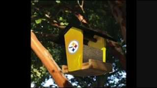 Pittsburgh Steelers Nfl Wood Birdfeeder Kit