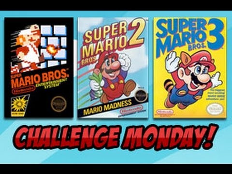 CHALLENGE MONDAY - Beat Super Mario Bros 1,2 AND 3 in an hour!