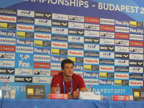 Nathan Adrian PRESS CONFERENCE Budapest 2017