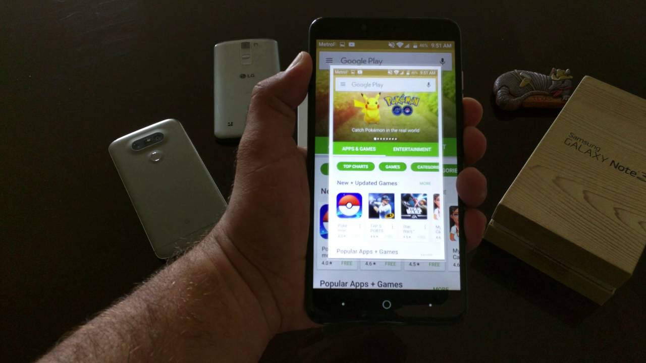 How to take a screenshot on the ZTE Zmax Pro for Metro pcs/T-Mobile