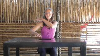 Stretching Out the Neck And Shoulders ( Part 1 Office Yoga Series)