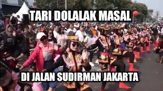 Gambar cover Meriah Tari Masal Ndolalak dari Purworejo di CFD Jakarta dalam rangka Purworejo Fair 2019