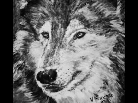 Louise du Toit - Ode to the Wolves - Wolf Paintings by Vincent A Kennard