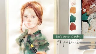 Drawing and Painting Techniques of a lovely girl portrait.