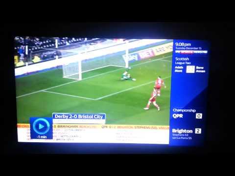 Derby County v Bristol City. 2-0 - Tom Ince