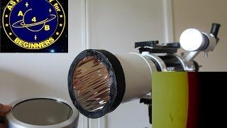 How to make a DIY Solar filter