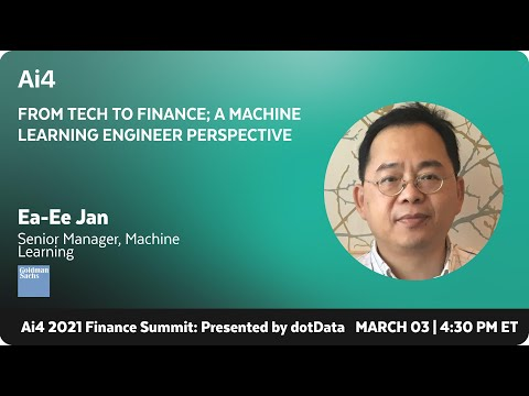 From Tech to Finance; a Machine Learning Engineer Perspective