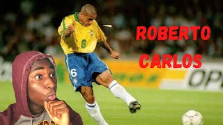 Football Fan Reacts To Roberto Carlos Most Unstoppable Goals Ever