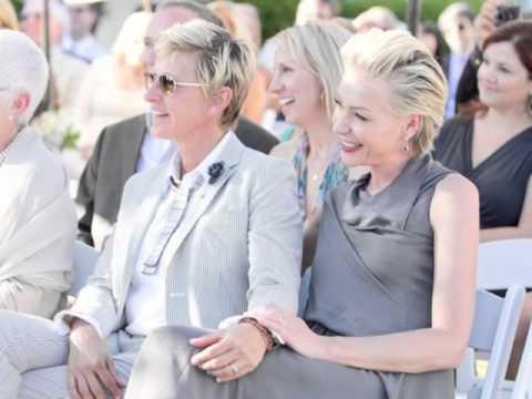 Portia De Rossi Wedding Kiss.Ellen Degeneres Portia De Rossi On The Other Side