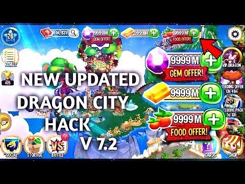 hack dragon city download unlimited gems gold and food