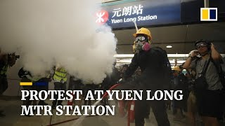 Protest at Yuen Long MTR station