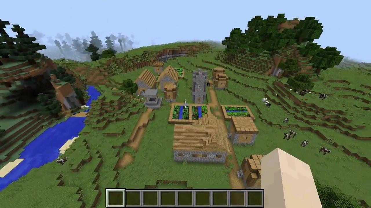 Minecraft 1122 Seed 031 Village At Spawn Ravine Overhang No Blacksmith
