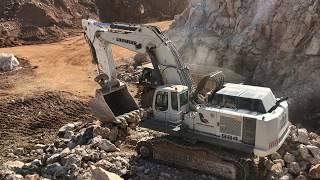 Liebherr 984 Excavator Loading Cat 773B Dumpers - Labrianidis SA