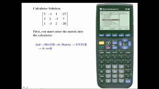 Ti-89 - Solve a system of equaions using matrices