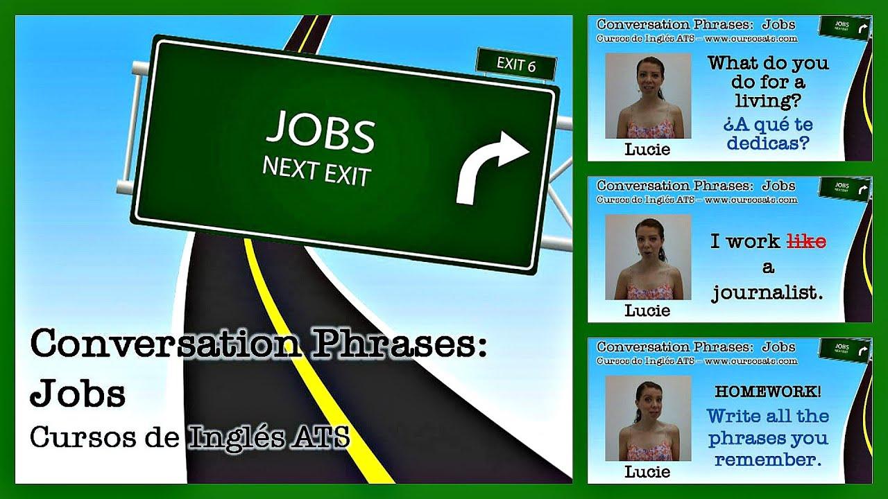 TALK ABOUT YOUR JOB - Cursos de Inglés ATS