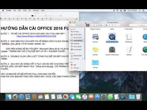 OFFICE 2016 FULL GUIDE TO INSTALL MAC OS X