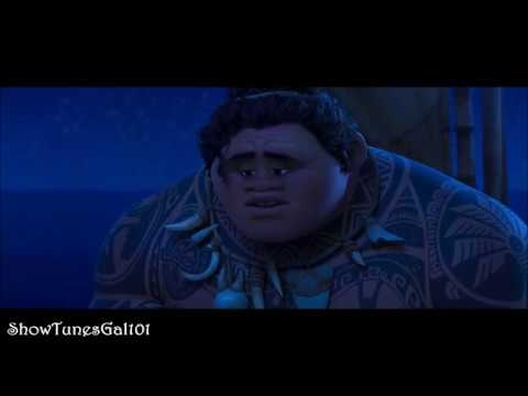 Moana - Maui Explain The Truth About His Past And why He Stole The Heart! HD