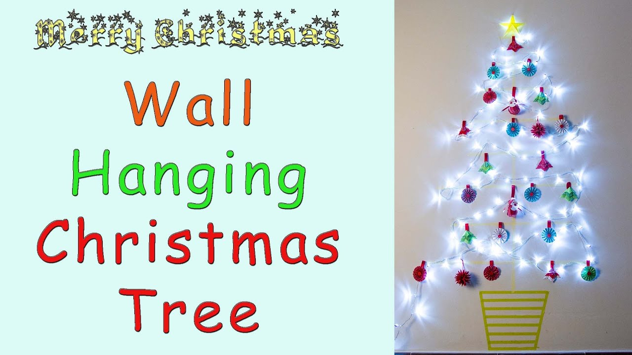 Taping Christmas Lights To Wall : Wall Hanging Christmas Tree Washi Tape - YouTube