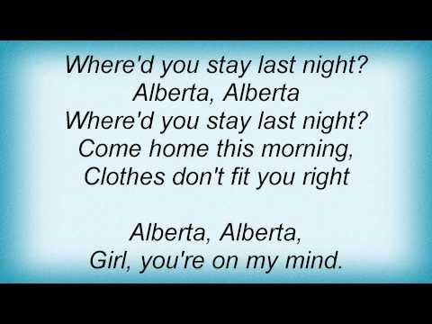 Eric Clapton  Alberta Lyrics