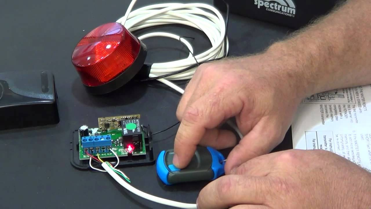 add a NOVA remote control to your gate motor. - YouTube