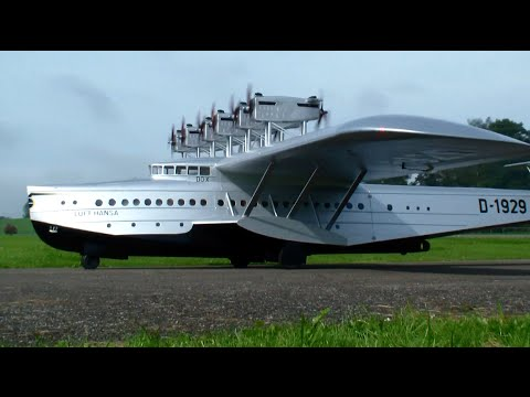 Michael Bräuer Dornier DO-X 1929 giant flying boat with 12x 10ccm O.S Motors
