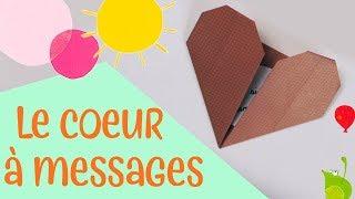 Les petits pliages - Le cœur à message - origami facile pour enfants