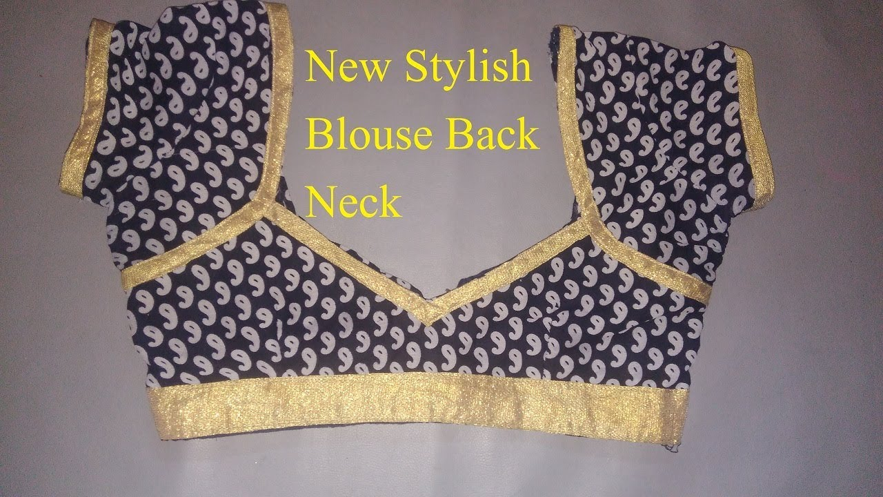 Latest Stylish Blouse Back Neck Designs For 2018 Youtube