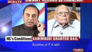 Ram Jethmaani openly admires Dr. Subramanian Swamy