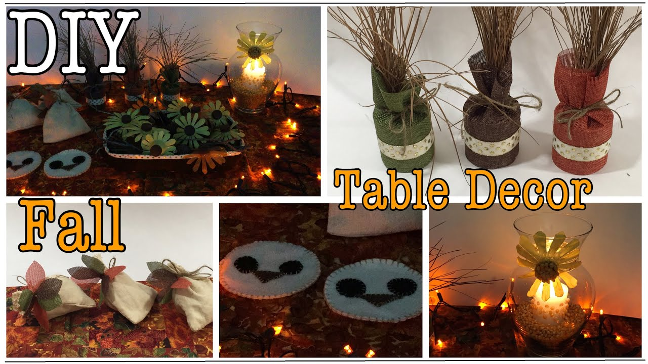 DIY 7 Fall Table Decor Ideas Autumn Home Decor #31   YouTube