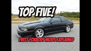 *FIRST MODS* What are the essential first foxbody modifications?