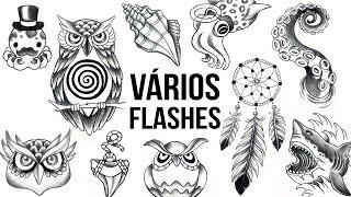 CORUJAS e ANIMAIS MARINHOS - Speed Drawing #50