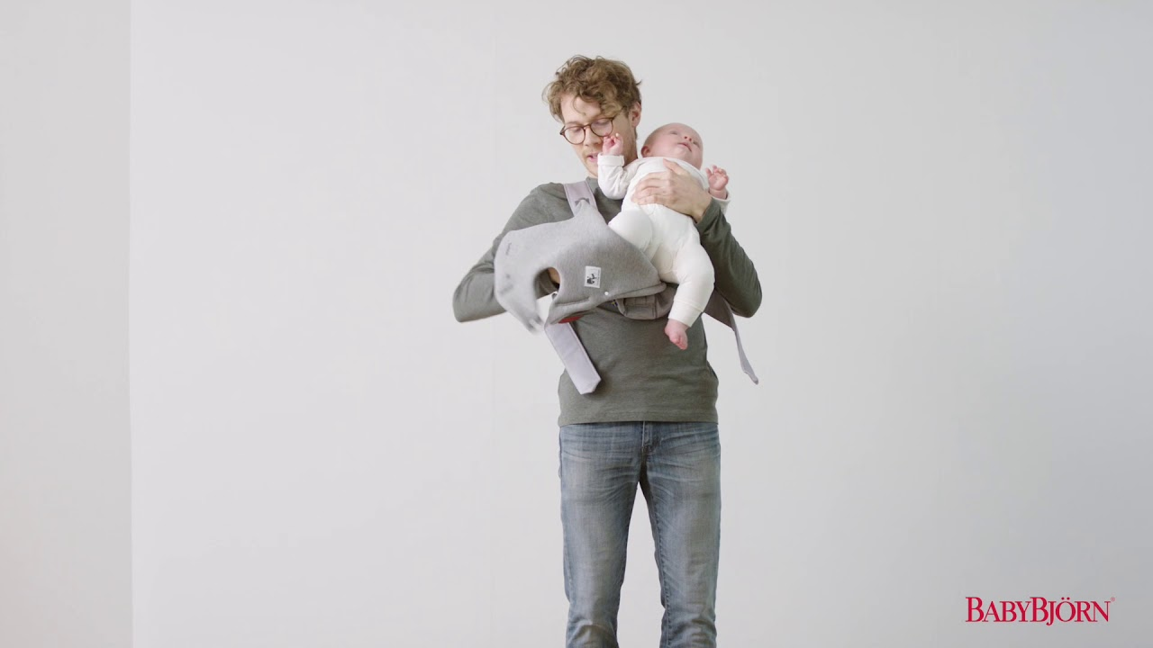 Babybjorn How To Use The Facing Out Position On Baby Carrier Mini