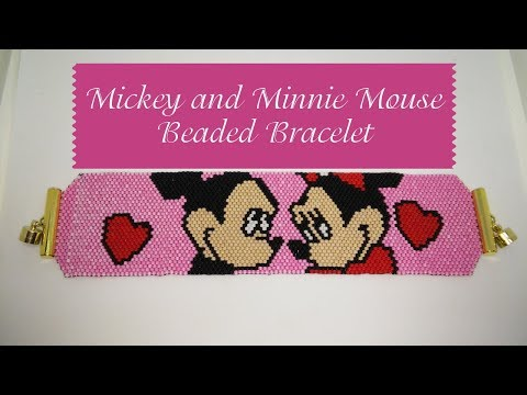Mickey And Minnie Beaded Bracelet