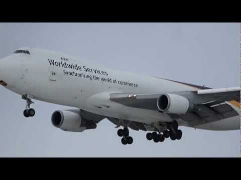 UPS Boeing 747-400, landing Anchorage TED STEVENS Airport, Alaska