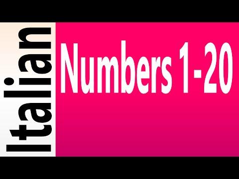 Italian Numbers 1-20